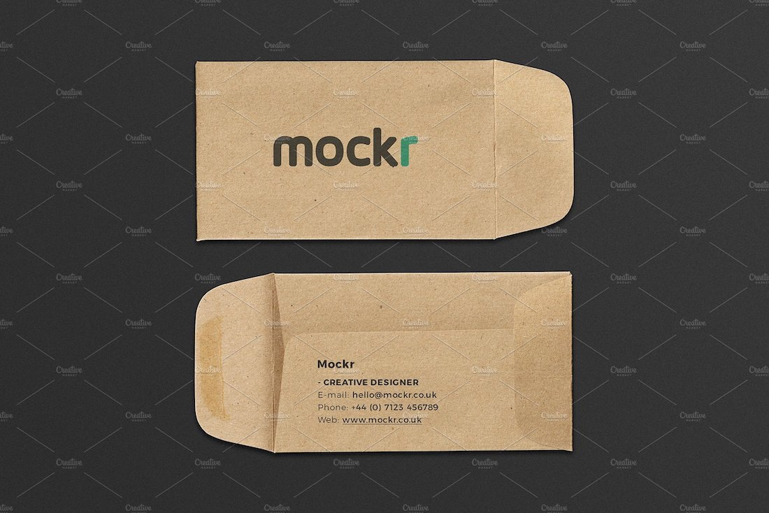 envelope business card mockup