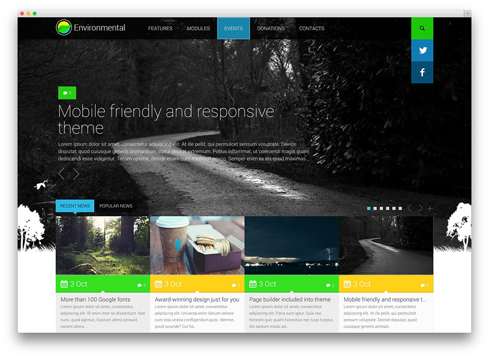 environmental eco fueled wordpress theme
