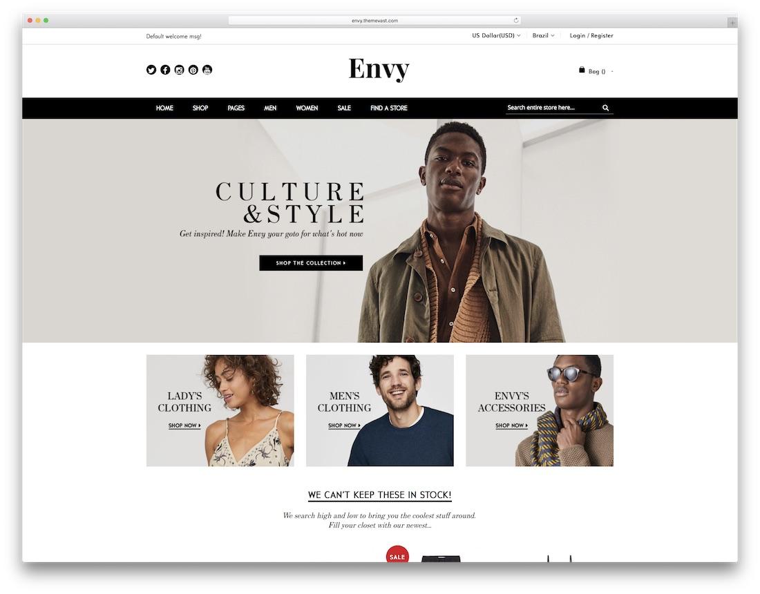 envy magento fashion theme