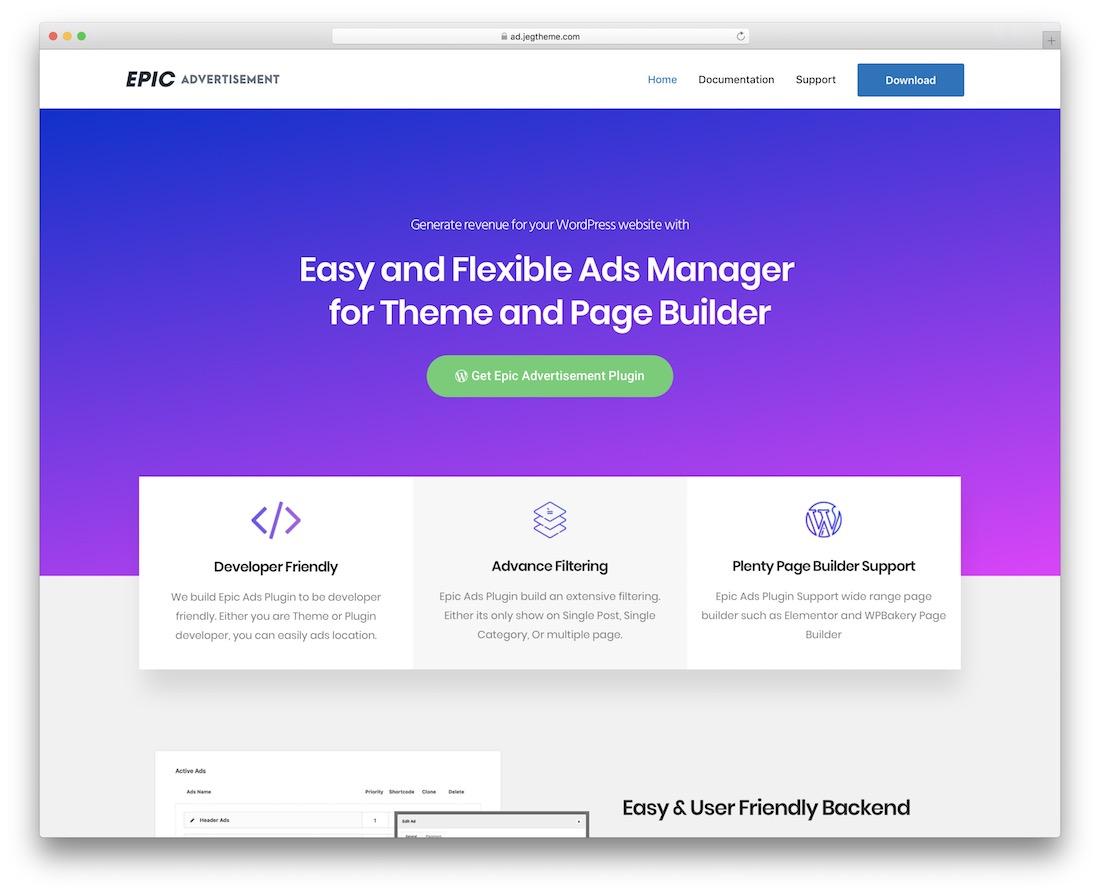 epic advertisement wordpress ad management plugin