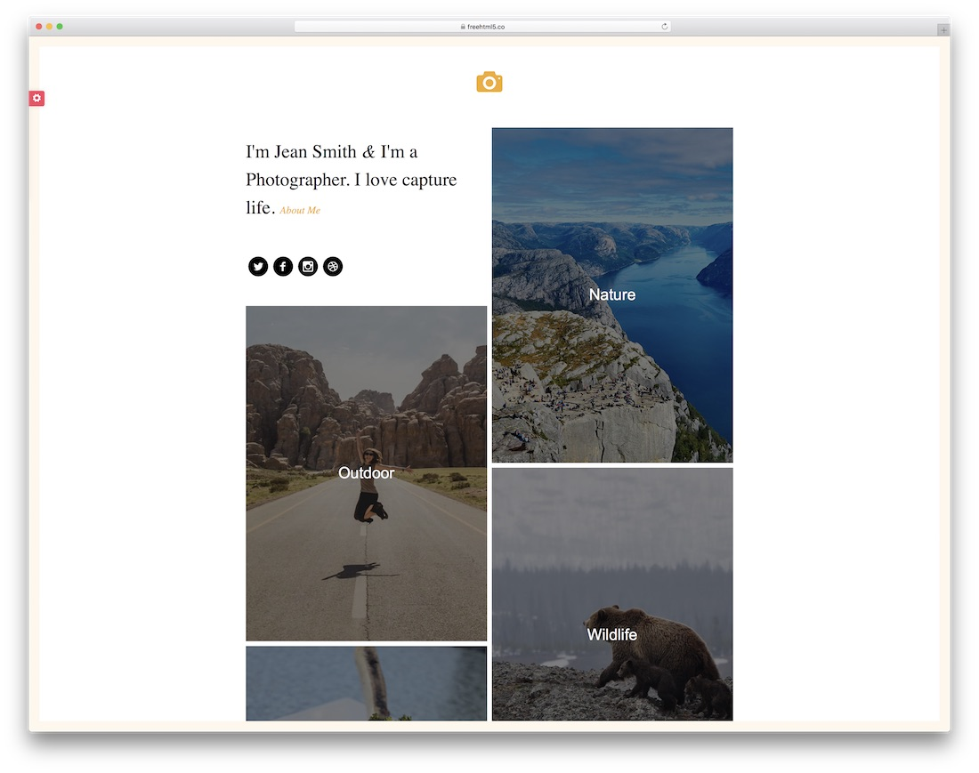 epic best free photography website template