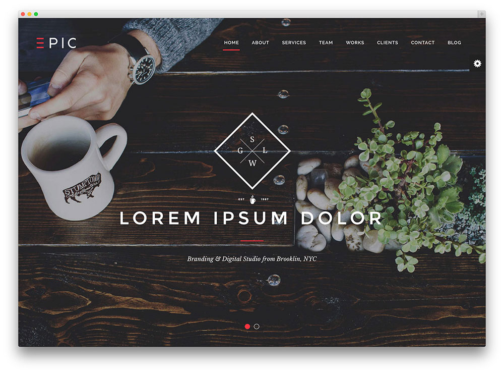 35 Stunning Parallax Scrolling WordPress Themes For Agencies ...