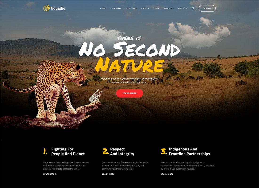 Equadio - Non-Profit and Environmental WordPress Theme