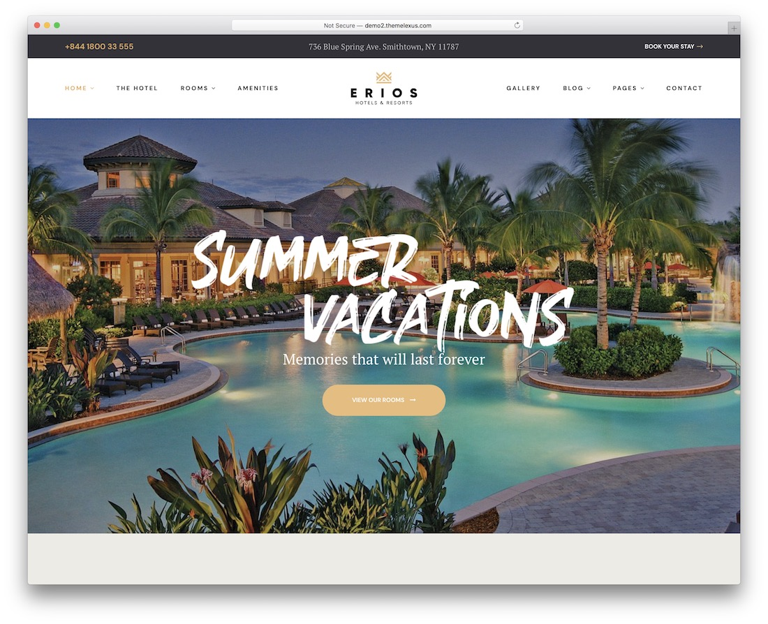 erios hotel website template