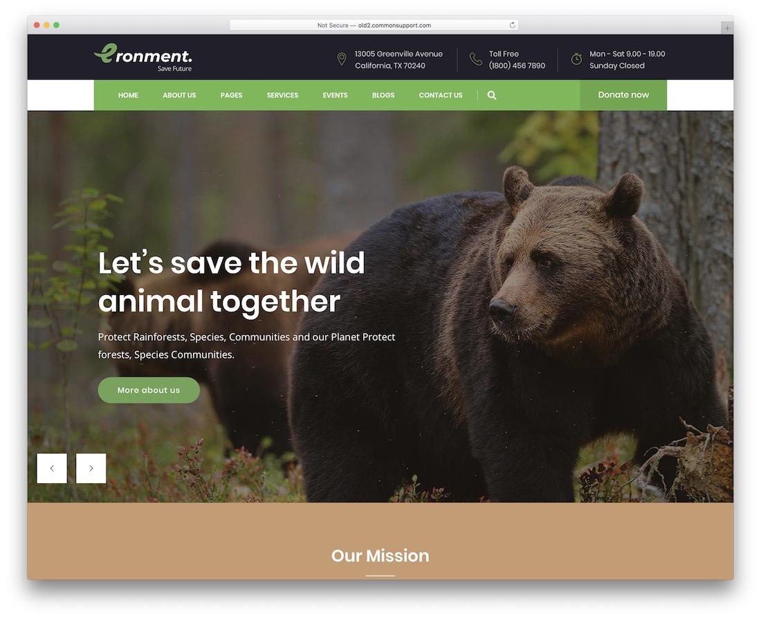 eronment nature wordpress theme