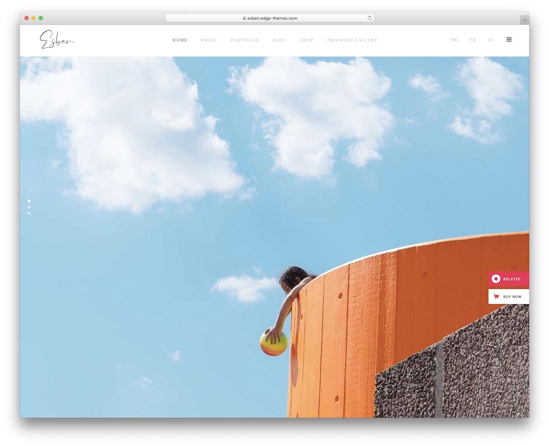 esben gallery website template
