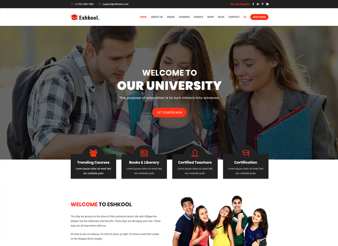 Eshkool Education | Education WordPress Theme