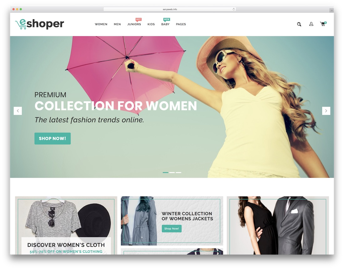 eshoper fashion website template