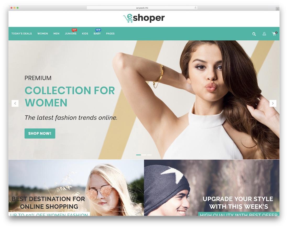 eshoper ecommerce website template