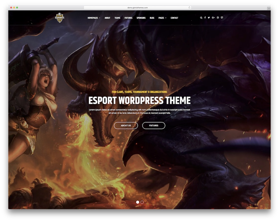 esport gaming html website template