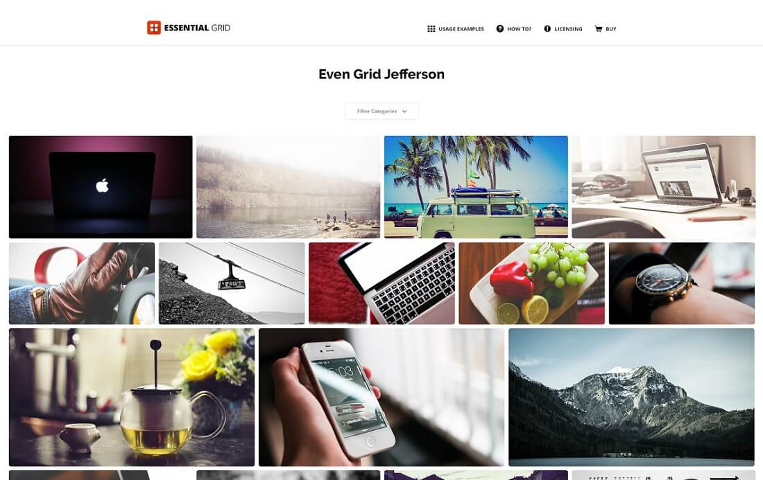 essential grid wordpress gallery plugin