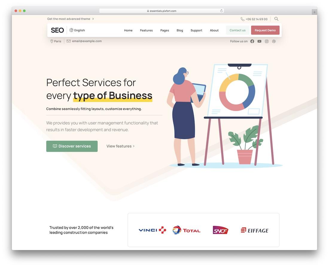essentials cool website design
