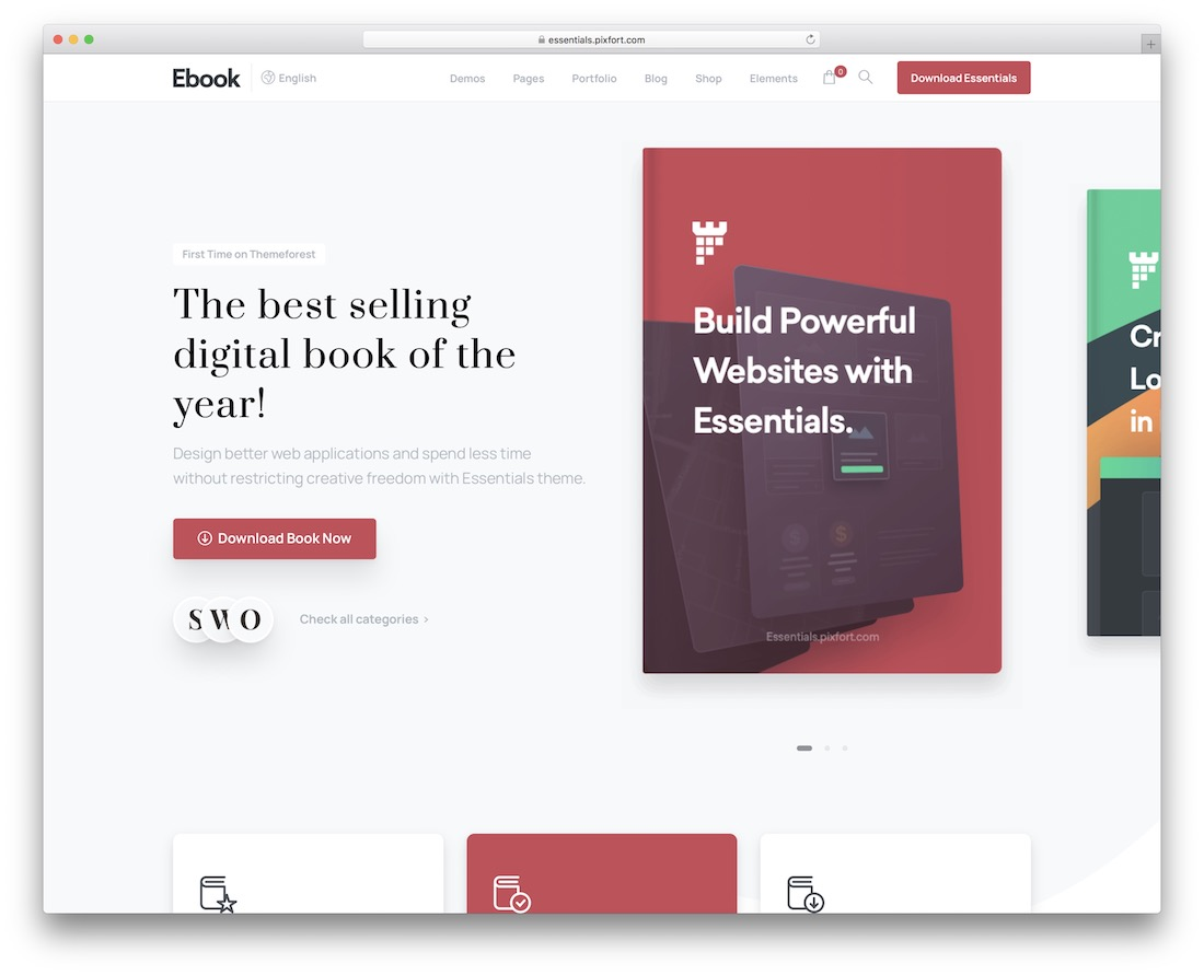 essentials wordpress theme for selling ebooks