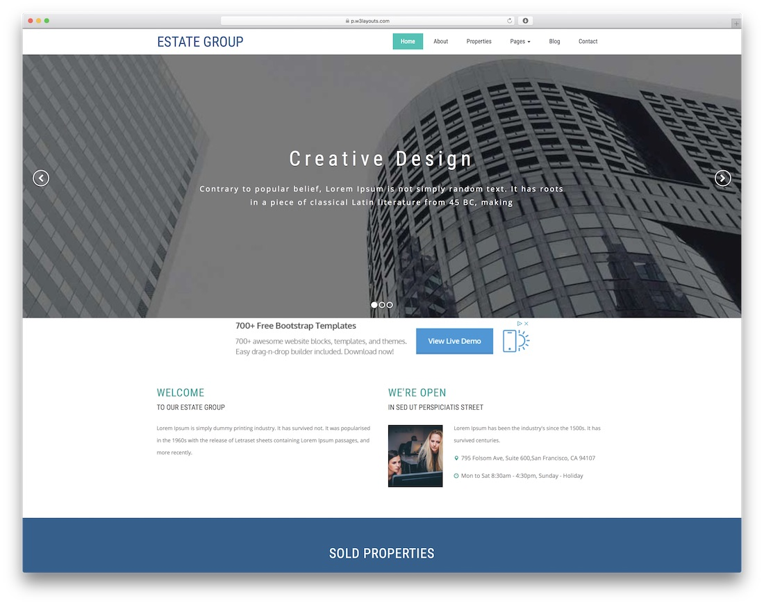 25 Best Free Real Estate Website Templates 2018 Colorlib