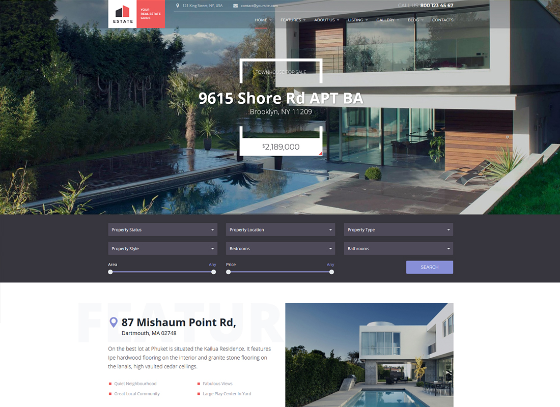 Estate | Property Sales & Rental WordPress Theme + RTL
