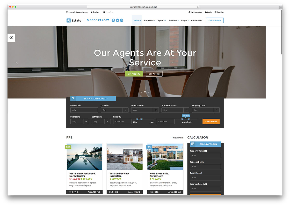estato-creative-real-estate-html5-template