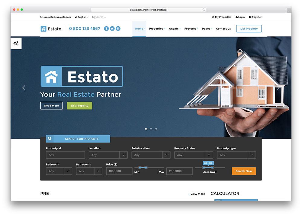 estato-multipurpose-html-real-estate-directory-template