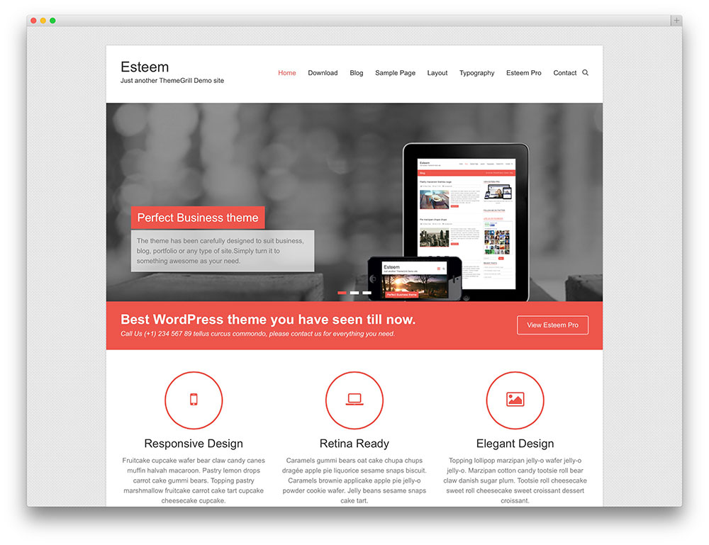 50 best free responsive wordpress themes 2018 colorlib esteem minimal flat corporate theme pronofoot35fo Gallery