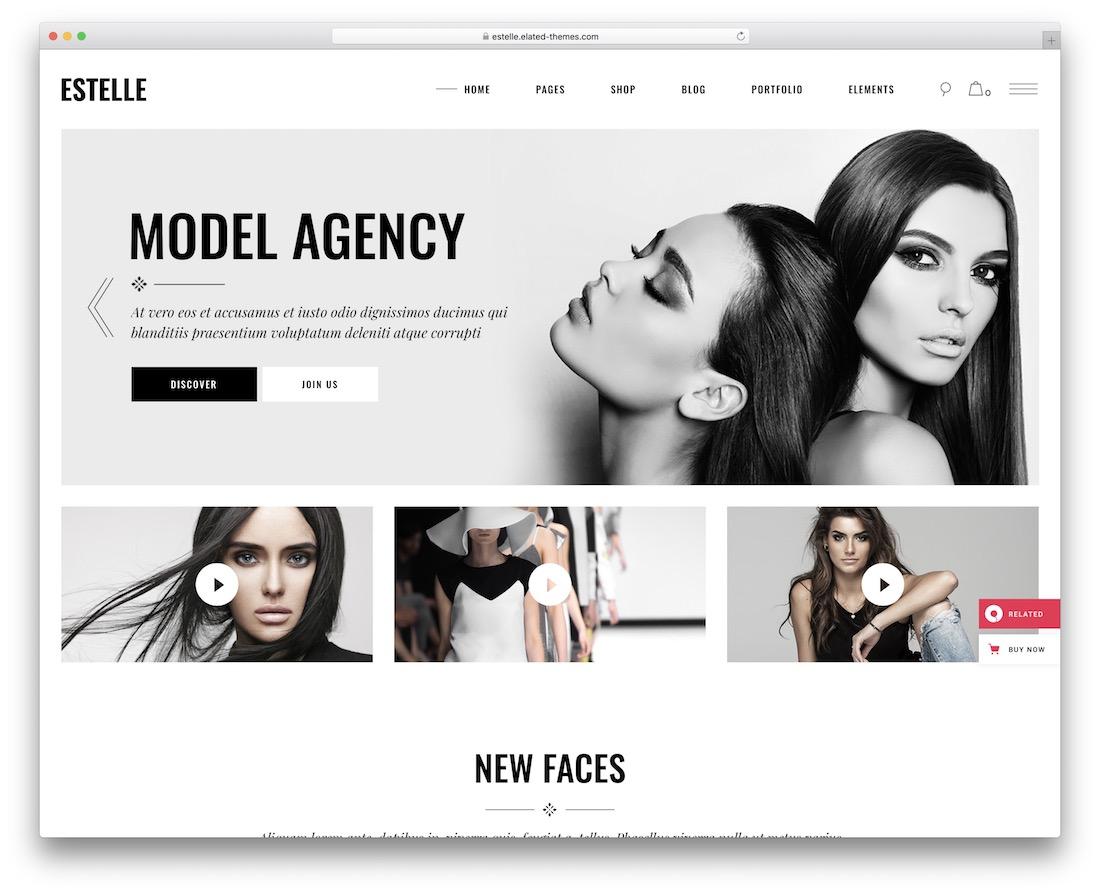 estelle model agency wordpress theme