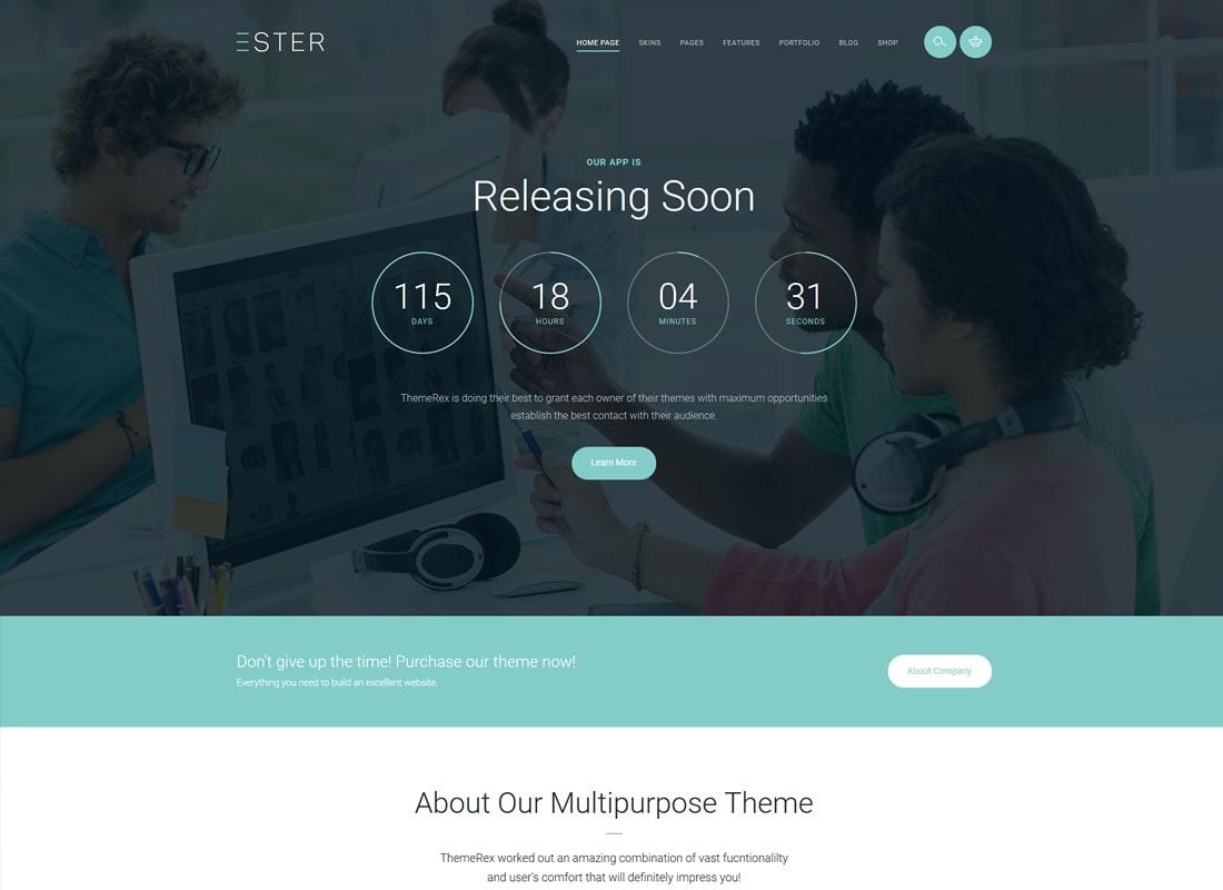 Ester | A Stylish Multipurpose WordPress Theme