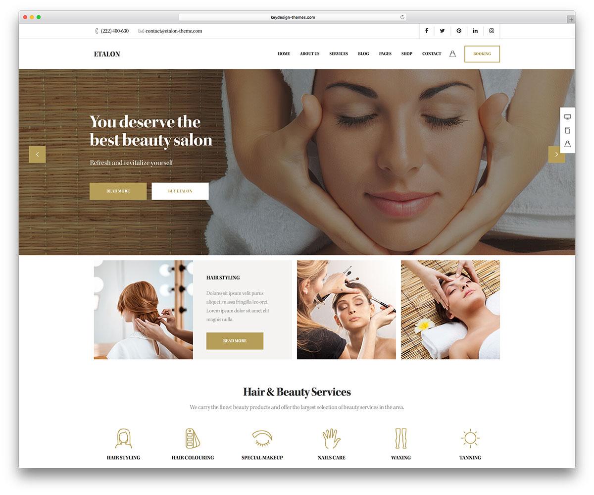 Salon website