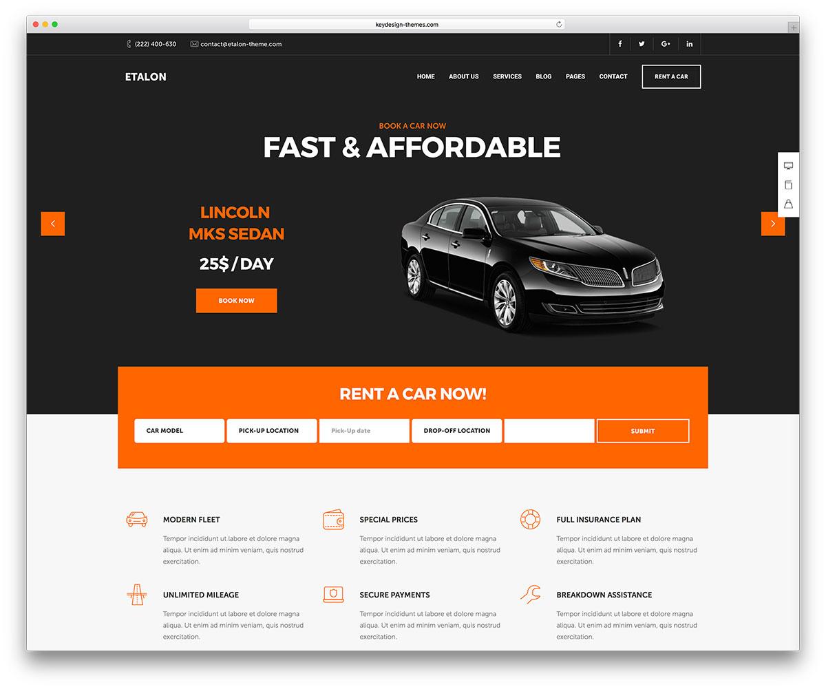 That Rental Site: 15 Mobile Friendly Car Rental WordPress Themes 2019