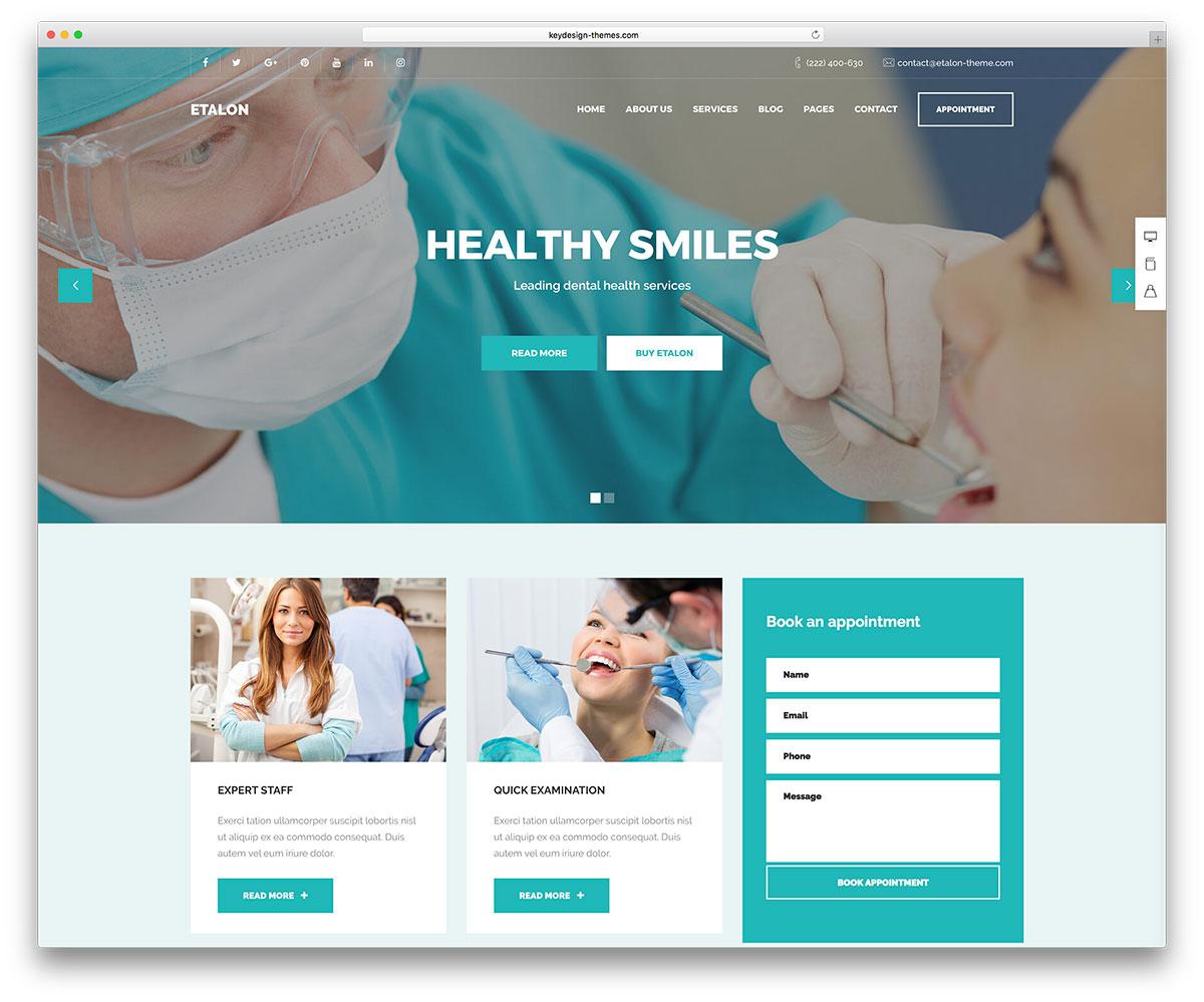 17 Simple & Professional WordPress Dentist Themes 2017 - Colorlib