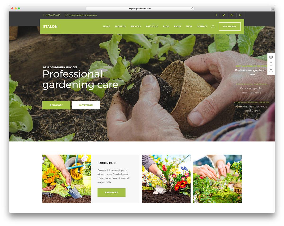 Etalon - multipurpose landscaping theme