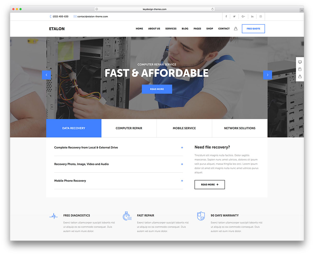 40 Wordpress Themes For It Companies And Tech Startups 2018 Colorlib