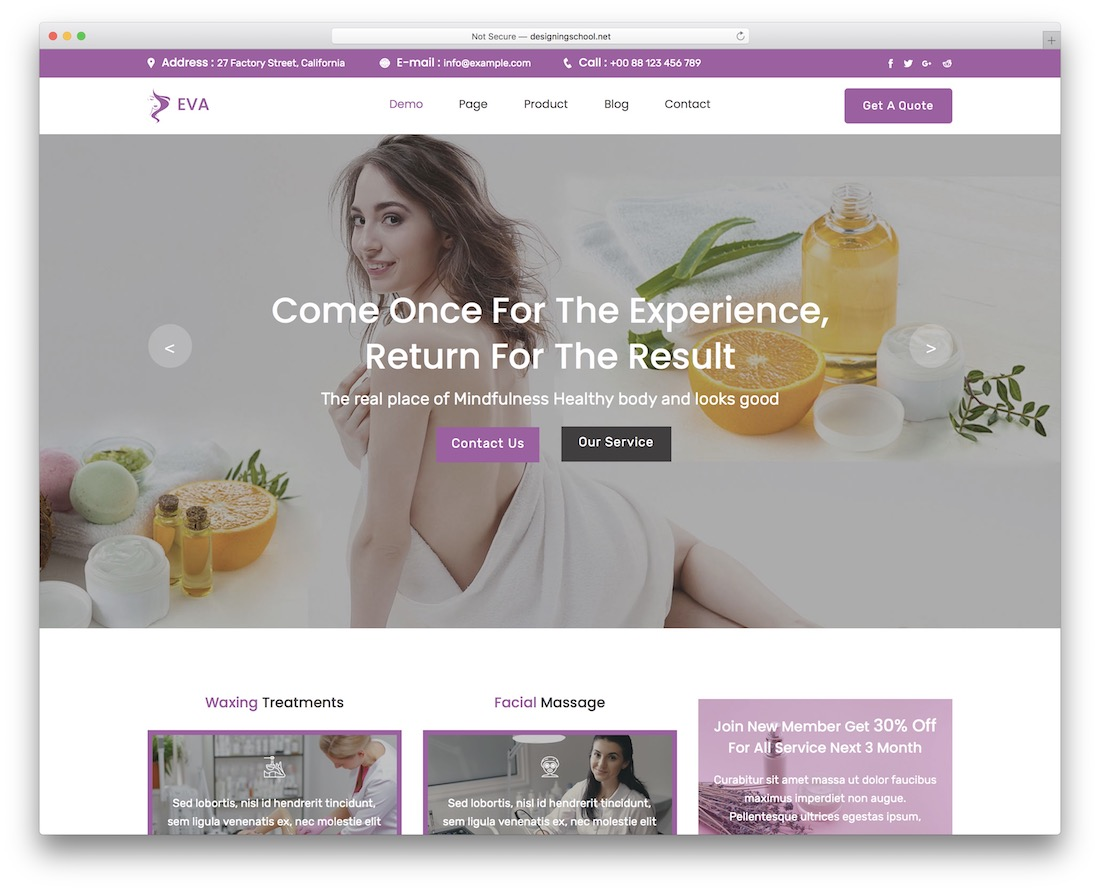 eva adobe muse template