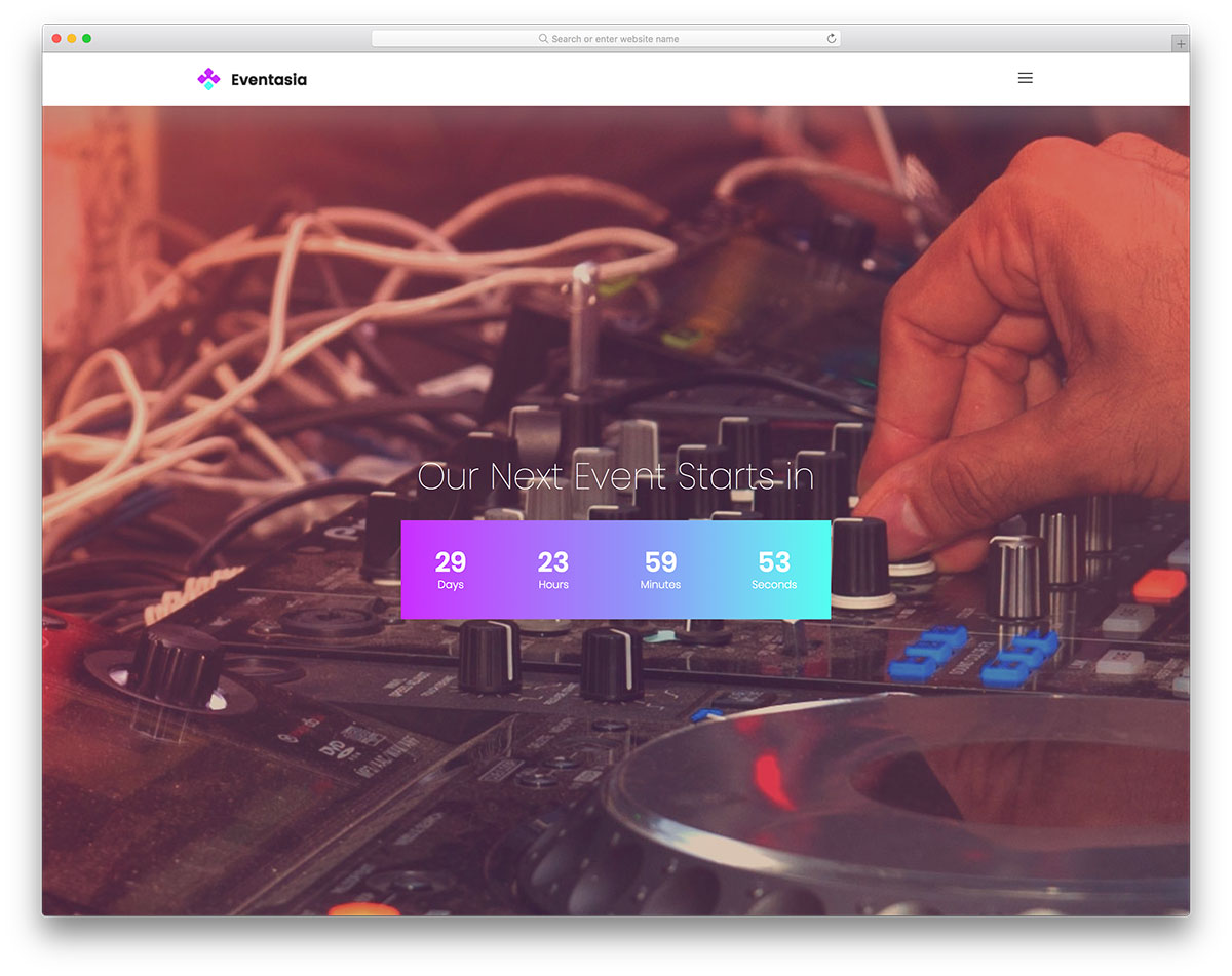 music player website templates free download