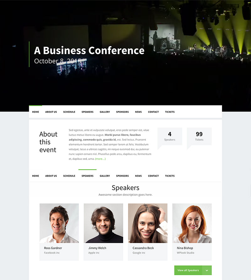 Premium Conference WordPress Theme - Event