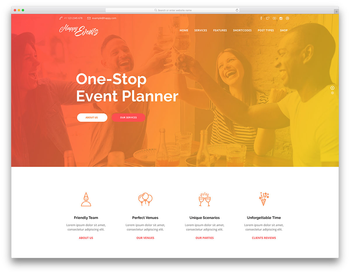21 Popular Event Planner WordPress Themes 2019