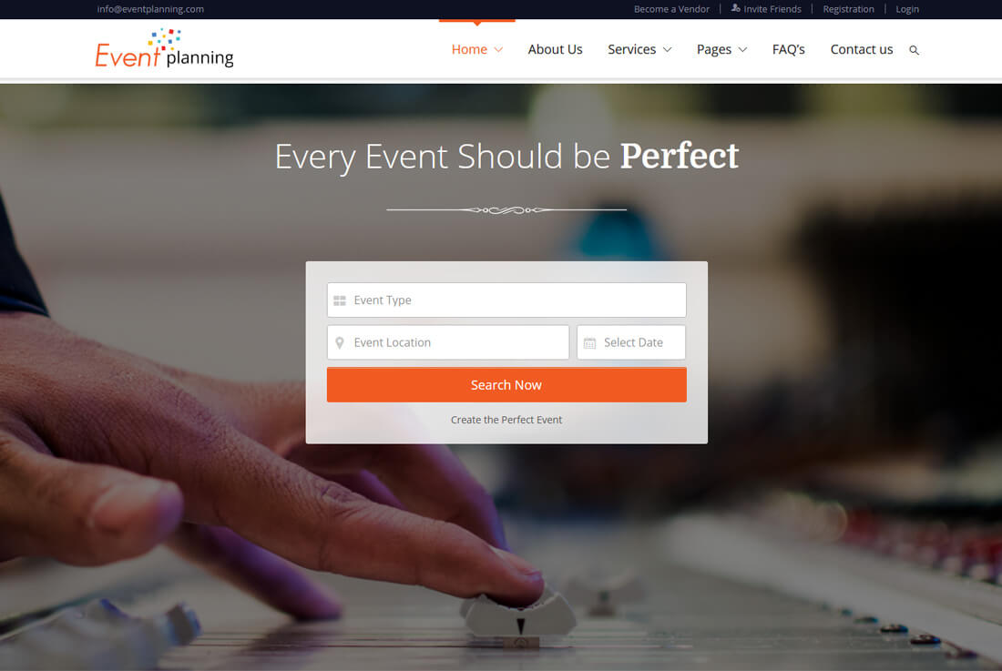 event planning website template helps you create an event website that covers top to bottom features of the event you are organizing