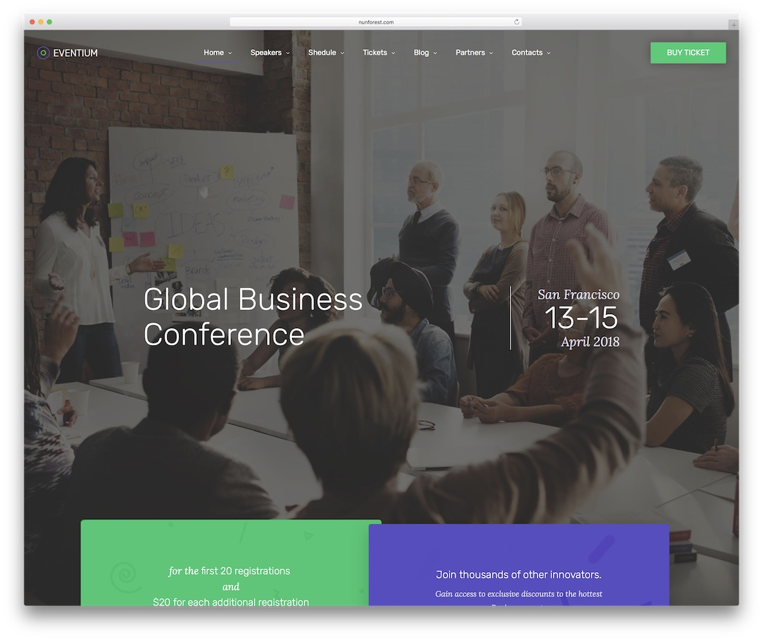 eventium event website template