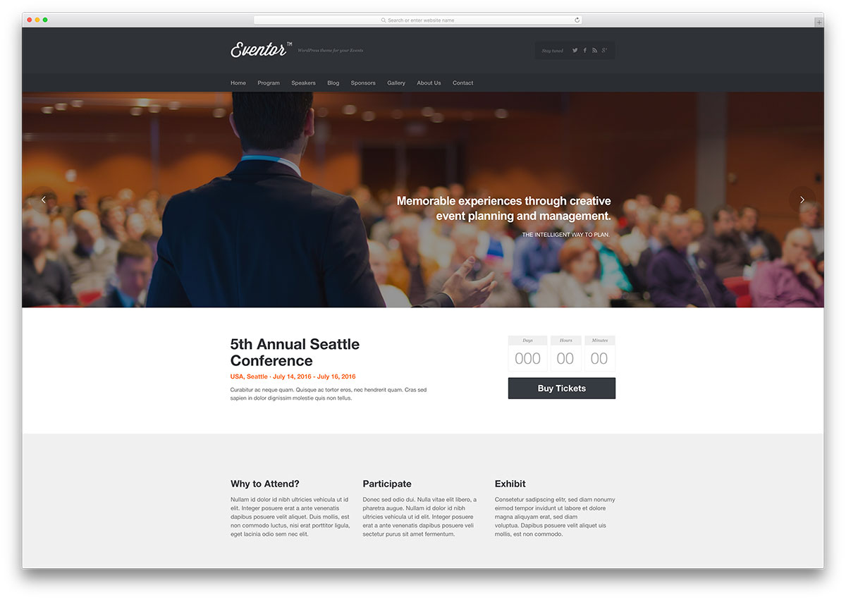 eventor-simple-classic-wordpress-template