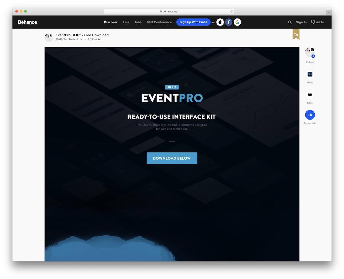 eventpro ui kit free download