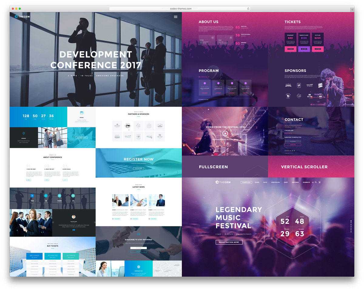 30 awesome wordpress themes for conference and event 2018 colorlib