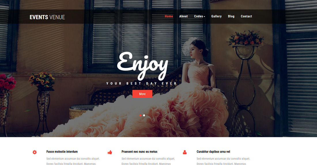 events-venue-dating-website-templates