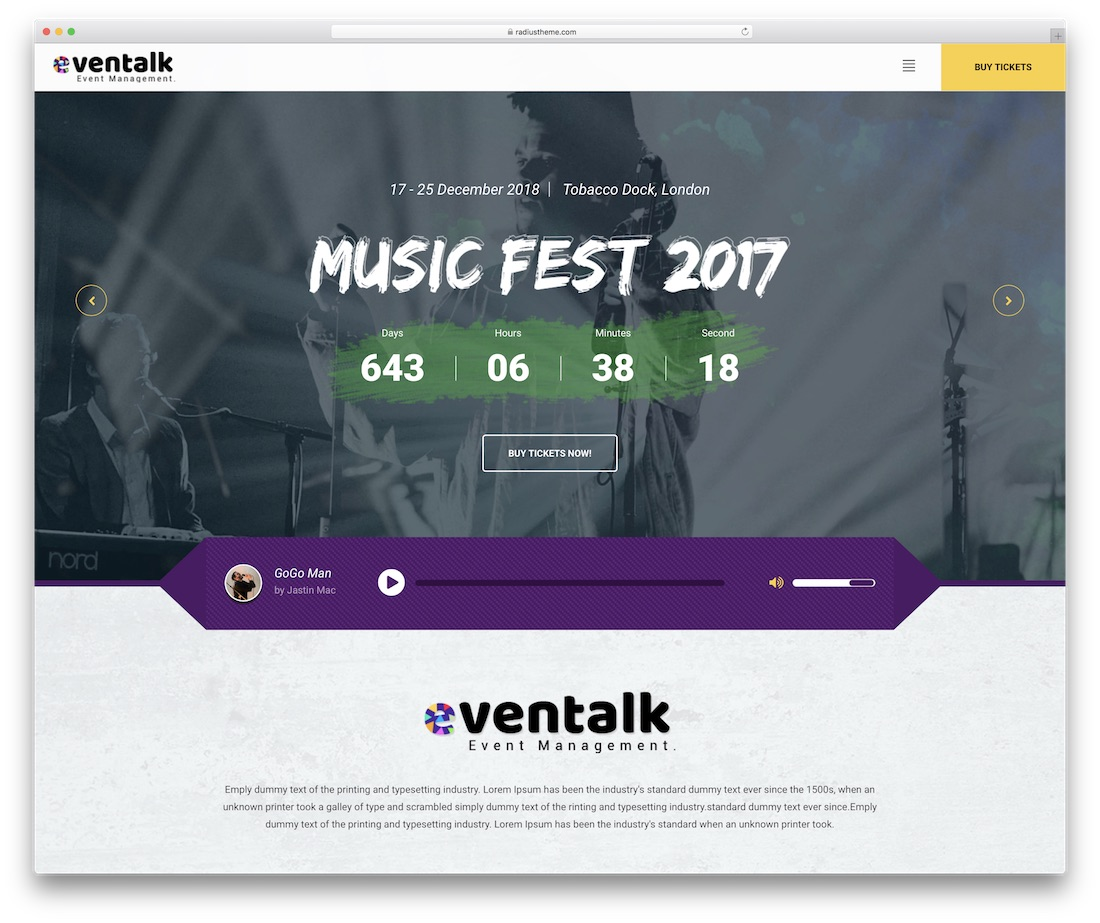eventtalk event website template