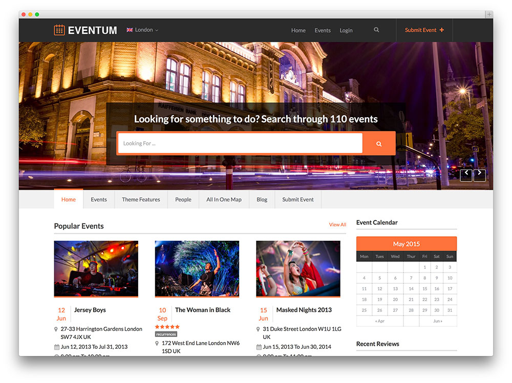 eventum - event directory theme
