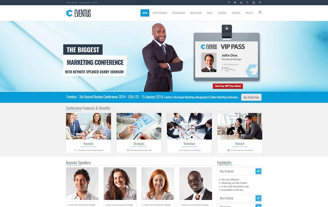 eventus drupal business template