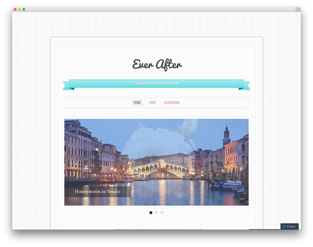 Ever After Clean Wedding Theme