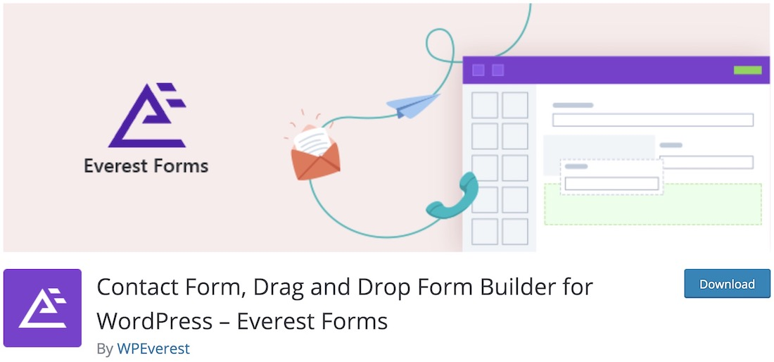 everest forms free contact form wordpress plugin