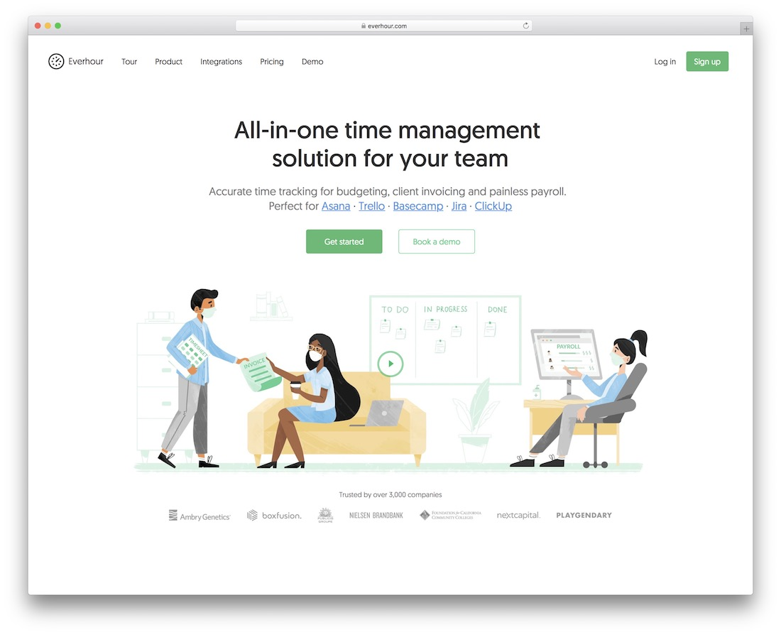everhour time tracking tool