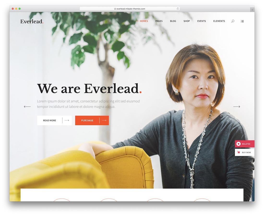 everlead speaker wordpress theme