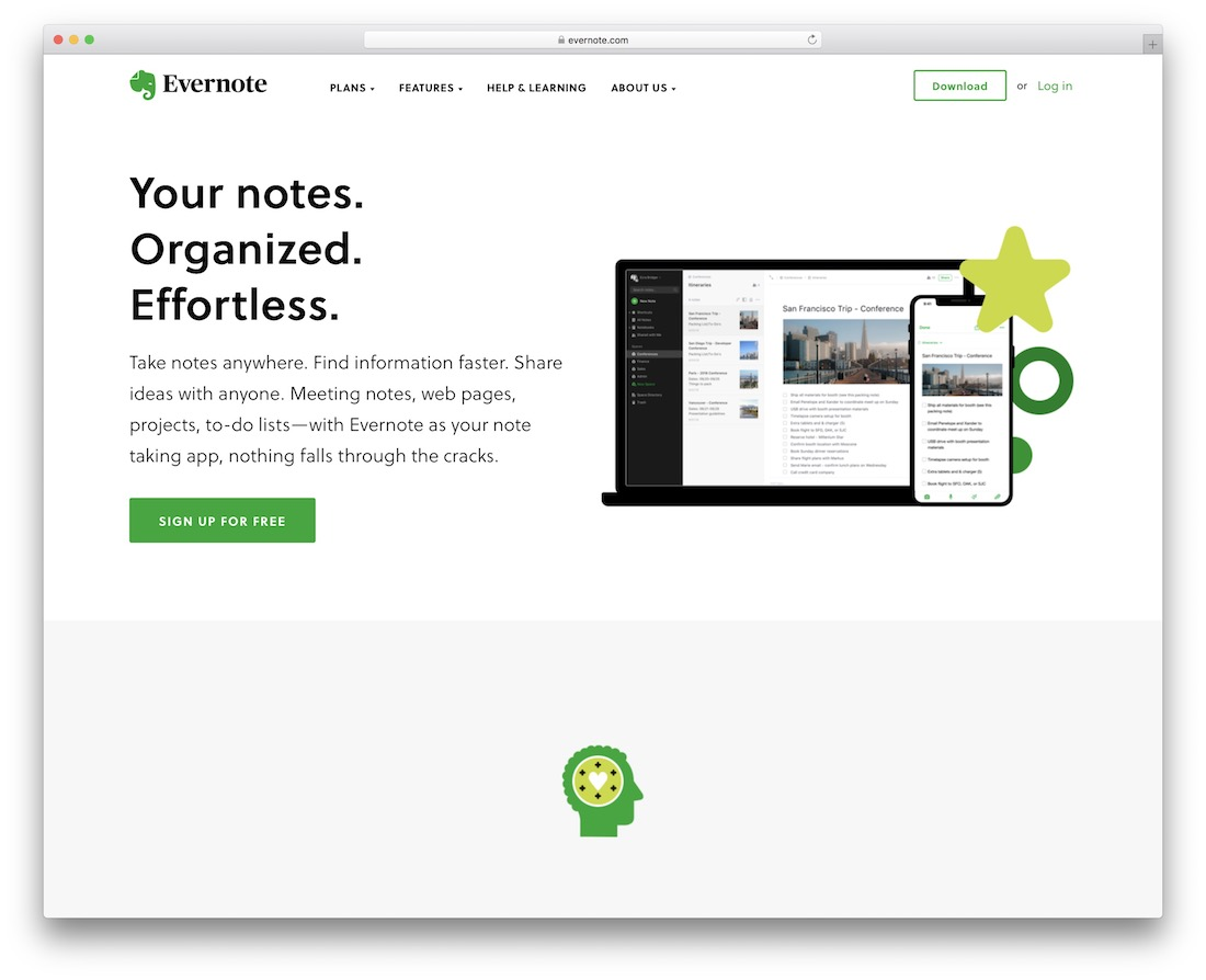 evernote free note productivity tool