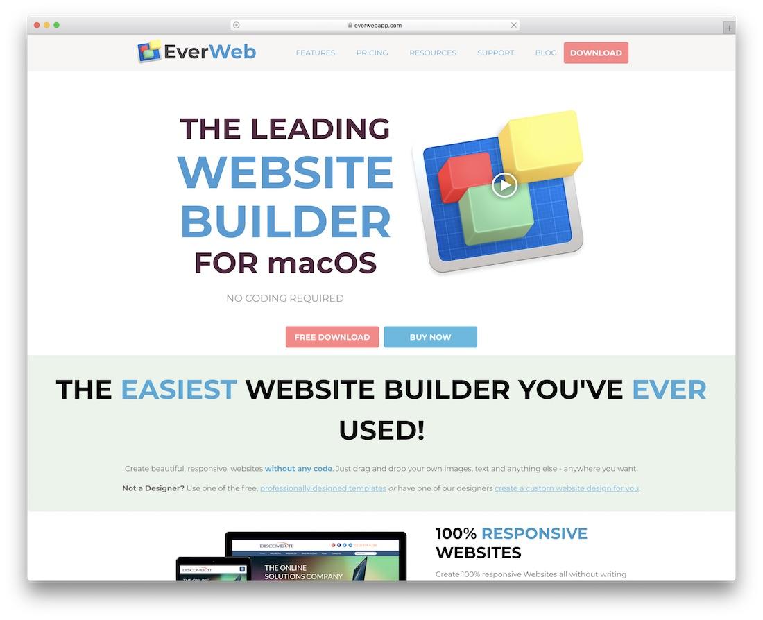 web page builder mac free