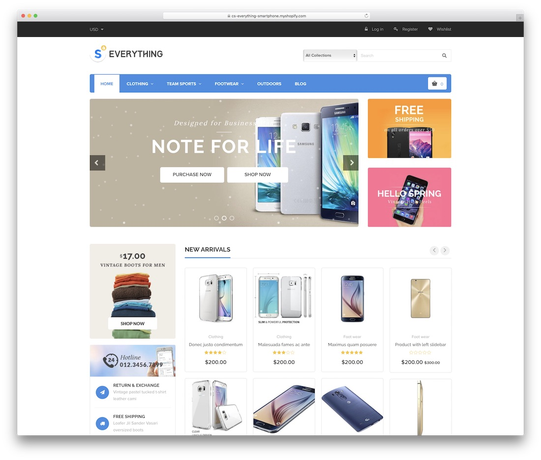 everything shopify technology theme