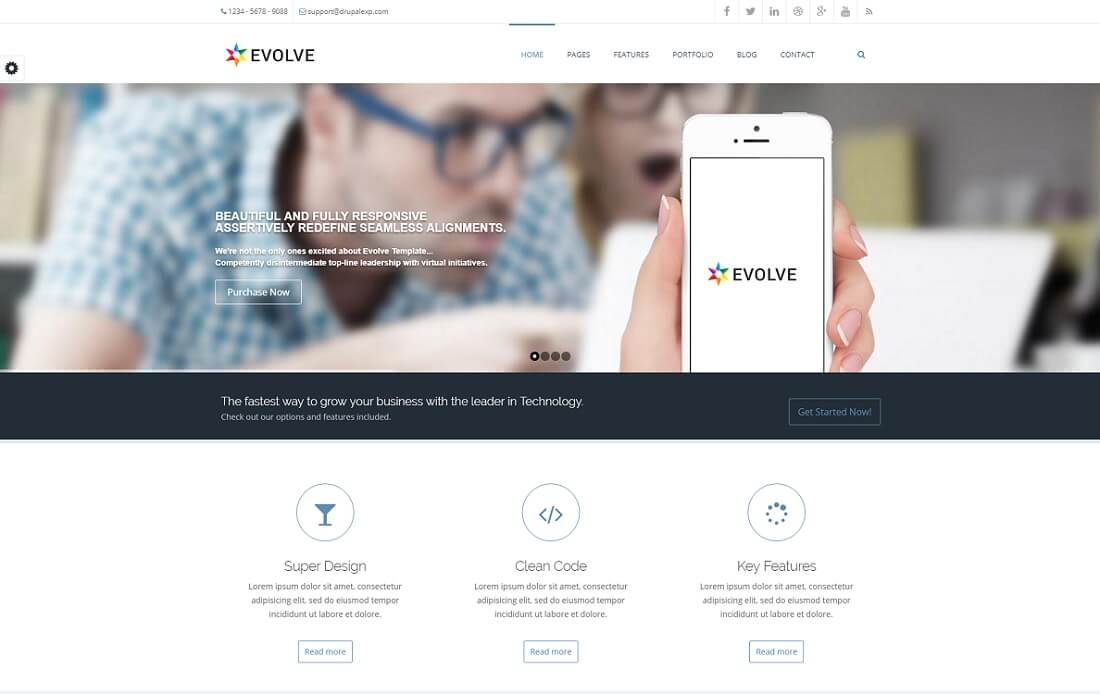 evolve drupal business template